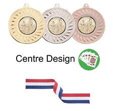 Offre spéciale 10x poker/cartes Métal 50 mm médailles & Ruban