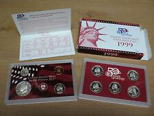 1999 U.S. Mint Silver Proof Set . 9 Coins
