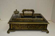 Vintage 19th Century Boulle work Writing Stand or Standish