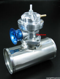 """Turbo TYPE-RS BOV Blow Off Valve Silver +3"""" Polish 304 Stainless Steel Pipe"""