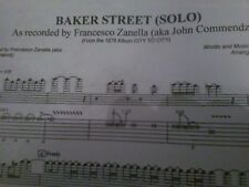 JERRY RAFFERTY -BAKER STREET (GUITAR SOLO) MUSIC SHEET WITH TABS AND NOTES