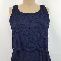 Alannah Hill Dress SZ 12 Navy Lace Fully Lined Think you can wait? Frock Formal
