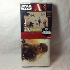 New STAR WARS VII Wall Decals Episode 7 Stickers Rey Chewbacca R2D2 BB8 Decor