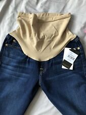 Seven 7 for All Mankind MATERNITY OVER BUMP STRAIGHT Stretch Blue Jeans W30 L30
