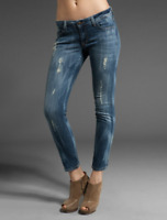 SIWY DENIM Hannah Ankle Slim Skinny Jeans First Love Destroyed Blue 32 $196 #27
