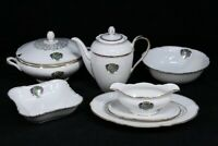 Lot of 6 Hutschenreuther Germany China Serving Pieces & Coffee Pot Ansbach Crest