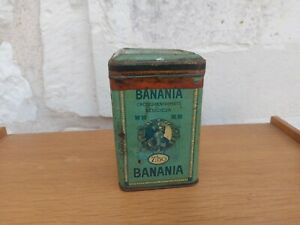 Boite en tôle litho banania en tôle , l'Antillaise