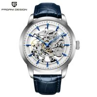 PAGANI DESIGN Men Automatic Mechanical Wrist Watch Leather Strap Band Reloj Gift