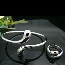 Teardrop Lady's Bracelet+Ring Set Fs28 Wholesale! Fashion Accessories 925 Silver