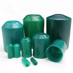 Ø8 mm - 110 mm Heat Shrink End Caps 2:1 Ratio Adhesive Glue Lined Cap 35KV Green