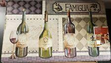 "ANTI-FATIGUE NON SLIP FLOOR MAT (18""x30"")PVC,4 WINE BOTTLES & GLASS,FAMIGLIA, PH"