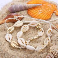 Bohemian Shell Necklace Cowrie Choker  Seashell Conch  Summer Beach  Jewelry