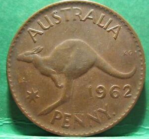 1962 Y. Australia 1d One Penny ** ERROR OFF CENTRE ** #2209 =HIGH GRADE=