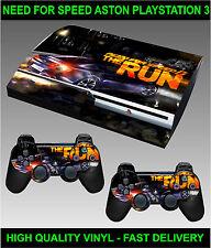 Playstation 3 console Autocollant peau besoin vitesse Racing ASTON peau & 2 x pad skins