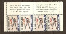 USA  AIRMAIL, IT'S COMING.  PANE OF 4 POSTER STAMPS  , MINT, ORIGINAL