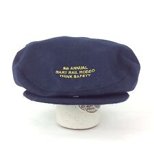 2007 9th Annual BART Rail Rodeo Think Safety Navy Blue Newsboy Cabbie Hat Med