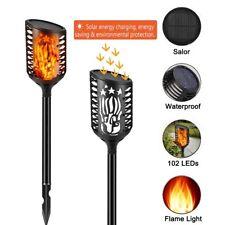 New Solar Garden Lights Outdoor Waterproof LED Flickering Flames Torch Landscape
