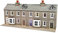 Metcalfe PN175 N Gauge Terraced House Fronts - Stone Card Kit