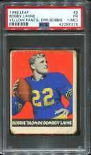 1948 Leaf #6 Bobby Layne RC PSA 1 (MC) Chicago Bears HOF
