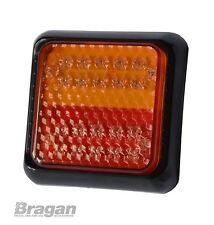 12 24v 24 LED Trailer Truck Van Caravan Lamp Light Stop Tail Indicator Square