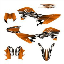 2008 2009 2010 2011 KTM EXC XCF 125 250 300 450 530 graphics kit #2500 Orange