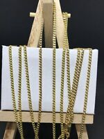 9ct 375 Yellow GOLD 2 MM Solid CURB CHAIN ALL SIZES BRAND NEW GIFT