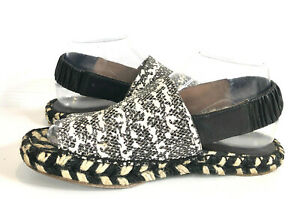 PROENZA SCHOULER sandals. 38. Black & white peep-toe, sling back espadrilles.