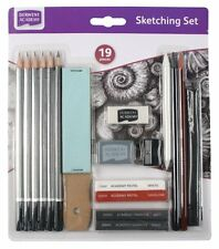 Derwent Academy 19 Piece Art & Craft Sketching Set with Pencils, Charcoal & More