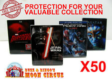 50x BLU-RAY WITH SLIPCOVER (SIZE B) - CLEAR PROTECTIVE BOX PROTECTOR SLEEVE CASE