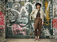 DDR blümosa m94 Donna Pantaloni 60er True Vintage 60s inondazioni trousers GDR Limbach