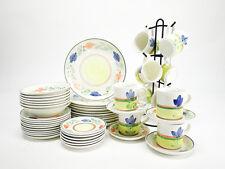 Hand Painted Ceramic Dinnerware  Resembles Gibson Dahlia or Maxam Mediterranean