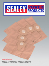 Sealey Vacuum Hoover Dirt Dust Collection Replacement Disposable Bags Pk5