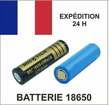 BATTERIE rechargeable ACCU 18650 3.7V LI-ION 4000 mAh LED + LG 3200 mAh