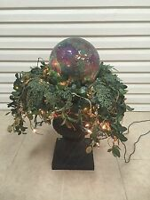 Frontgate Garden Topiary Gazing Multi Glass Ball Lights Greenery Urn Flower Pot