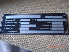 2 X TYPSCHILD IDENTIFIKATIONSSCHILD / VERS.NR 9905-12-190-0542
