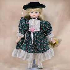 """Goebel Victoria Ashlea Musical Porcelain Doll 17"""" Blond Hair By Bette Ball Le"""