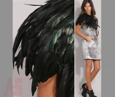 Christmas New Black Feather Collar Peacock Shawls Fringe Evening Dress Coque
