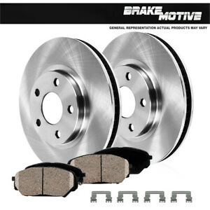 Front Rotors & Ceramic Pads For 1990 1991 1992 Chevy Chevrolet Astro Van 4WD 4X4