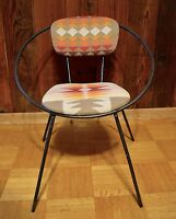Vintage Mid Century Modern Eames Era CHILD'S HOOP CHAIR Pendleton 1950s patio