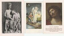 Drei antike Heiligenbildchen 1935 bis 1955