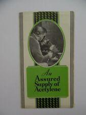 c.1930 Oxweld Prest-O-Weld MP-101 Acetylene Generator Welding Brochure Vintage
