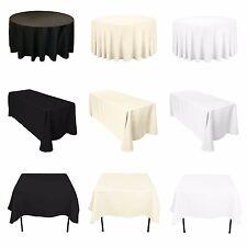 Nappe Nappe Tissu Polyester Banquet Mariage Fête Blanc Noir Ivoire