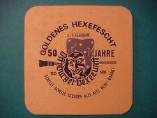 Beer Coaster ~*~ KRONEN Brau, Offenburg, GERMANY ~ Goldenes Hexefescht, 50 Years