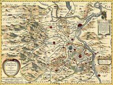 Reproduction carte ancienne - Principauté d'Orange et Comté de Venaissin 1627