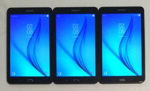"""THREE 8"""" VERIZON SAMSUNG GALAXY TAB E, SM-T377V Wi-Fi + 4G 16GB TABLETS C25C"""