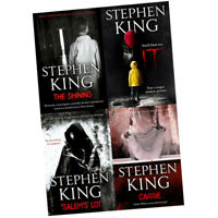 Stephen Kings 4 Books Collection Set The Shining Carrie Salem's Lot It film tie