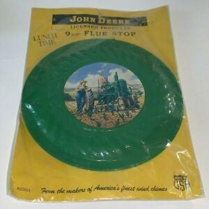 JOHN DEERE TRACTORS, 9-5/8 Tin Flue Stop, Advertising Disk Sign