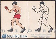 NUTREINA 15 SPORT PUGILATO BOXING BOXE Cartolina PUBBLICITARIA da COLORARE