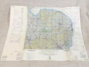 1970 Vintage Military Map of Norwich Cambridge USAF RAF Aeronautical Chart