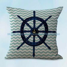 US SELLER, covers for pillows on sofa ship wheel helm cushion cover